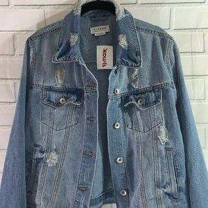 NWT CI SONO Distressed Jean Jacket X- Large